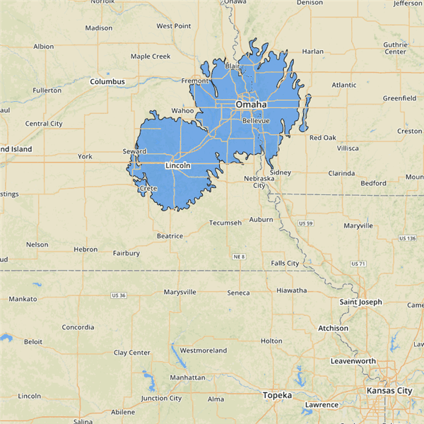 Nebraska Coverage Map