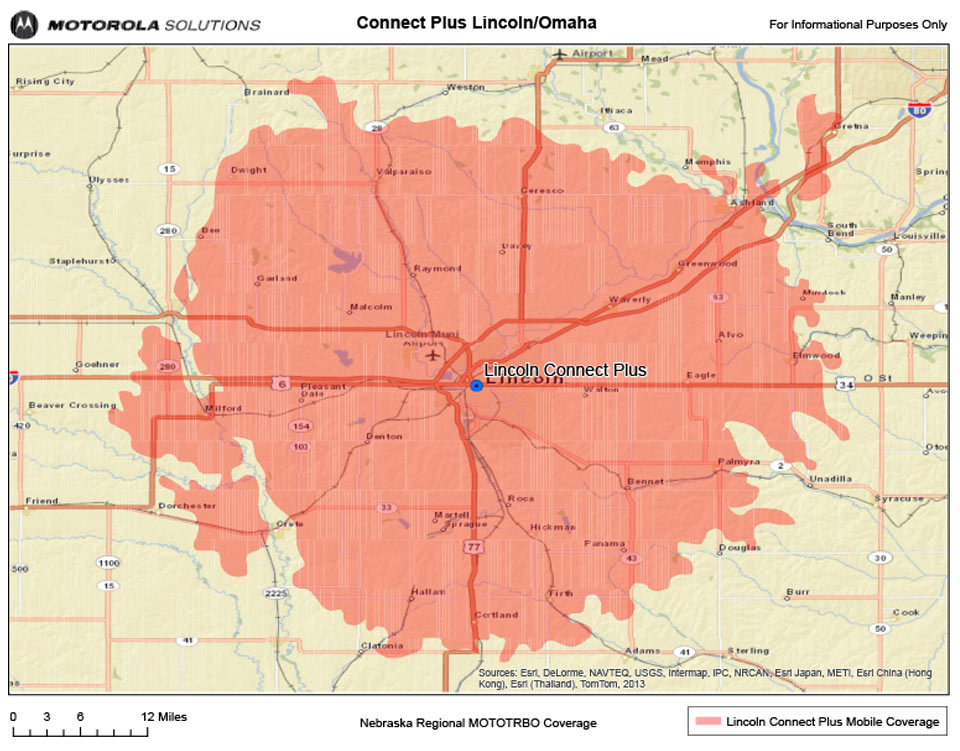 Lincoln, Nebraska Coverage Map