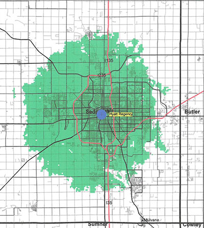 Wichita Coverage Map